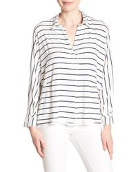Free People - Striped Can't Fool Me Hi-lo Top - Lyst