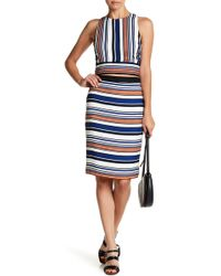 English Factory - Striped Pencil Skirt - Lyst