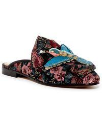 Sam Edelman - Peters Embellished Brocade Bow Slide Mule - Lyst