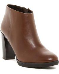 Geox - Raphal Leather Block Heel Bootie - Lyst