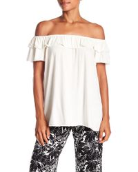 Max Studio - Off-the-shoulder Ruffle Top - Lyst