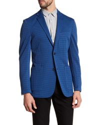 Vince Camuto - Navy Houndstooth Two Button Notch Lapel Suit Jacket - Lyst