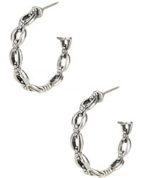 Lagos - Sterling Silver Open Link Hoop Earrings - Lyst