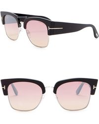 Tom Ford - Dakota 55mm Clubmaster Sunglasses - Lyst
