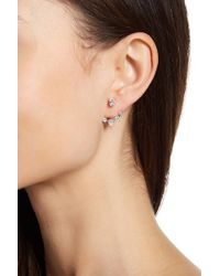 Nadri - Prong Set Cz Jacket Earrings - Lyst