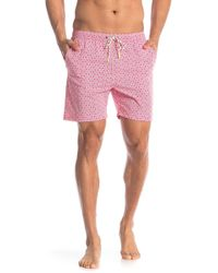 5b153270da231 Psycho Bunny - Linear Floral Swim Trunks - Lyst