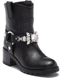 Marc Jacobs - Women's Campbell Leather Embellished Biker Boots - Lyst