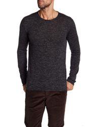 John Varvatos - Heathered Crewneck Sweater - Lyst