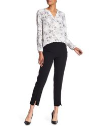 Adrianna Papell - Vented Hem Slim Fit Pants - Lyst