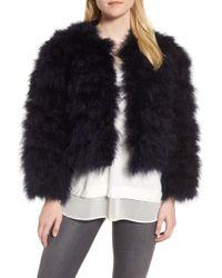 Chelsea28 | Crop Feather Jacket | Lyst