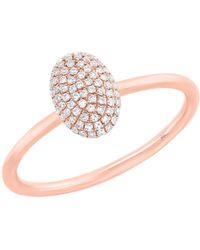 Ron Hami - 14k Rose Gold Diamond Oval Ring - 0.14 Ctw - Size 7 - Lyst