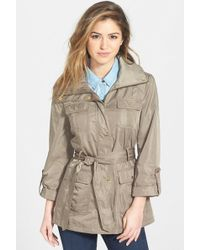 Ellen Tracy - Techno Short Trench Coat - Lyst