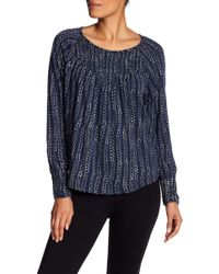 Lucky Brand - Chevron Print Smocked Top - Lyst