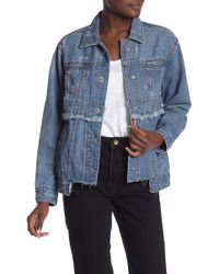 True Religion - Frayed Denim Jacket - Lyst