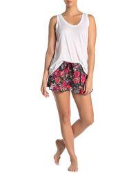 Kensie - Floral Print Pajama Boxer Shorts - Lyst