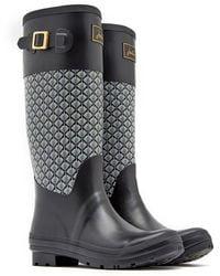 Joules - Wadebridge Buckle Waterproof Rain Boot - Lyst
