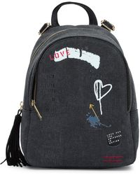 Peace Love World - Small Leather Tassel Backpack - Lyst