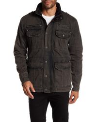 Affliction - Front Zip Logo Embroidered Jacket - Lyst