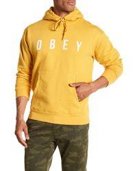 Obey - Anyway Logo Hooded Sweatshirt - Lyst