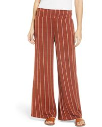 Love, Fire - Stripe Knit Wide Leg Pants - Lyst