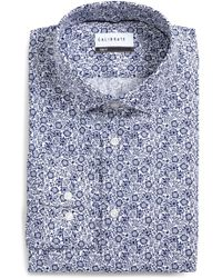 Calibrate - Trim Fit Floral Print Dress Shirt - Lyst