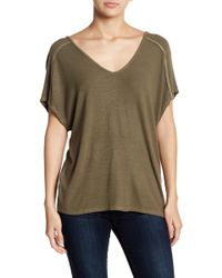 Michael Stars - Back Lace-up Tee - Lyst