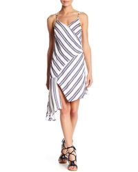 Lush - Stripe Asymmetrical Hem Dress - Lyst