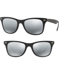 a446a9f4e8 Lyst - Ray-Ban 0rb4242 710 73 49 Havana brown Tech Sunglasses in Brown
