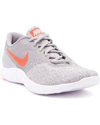 1eafb674d7908 Lyst - Nike Women s Flex Contact Running Shoe in White