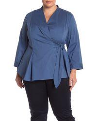 49eefa21f1684 Lafayette 148 New York - Jillian Wrap Blouse (plus Size) - Lyst
