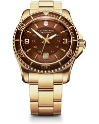 Victorinox - Men's Maverick Gs Two Tone Bracelet Watch, 43mm - Lyst