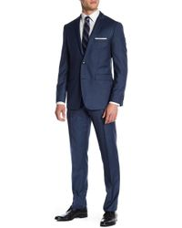 Vince Camuto - Solid Navy Wool Suit - Lyst