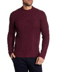 Michael Bastian - Wool Blend Cable Knit Sweater - Lyst