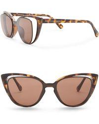 Diane von Furstenberg - Cat Eye 50mm Acetate Frame Sunglasses - Lyst