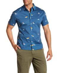 Ambsn - Bait Short Sleeve Tailored Fit Shirt - Lyst