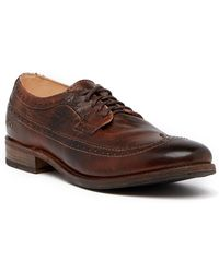Bed Stu - Shale Brogued Leather Oxford - Lyst