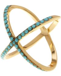Ariella Collection - Large X Ring - Lyst