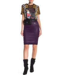 Love Moschino - Quilted Skirt - Lyst