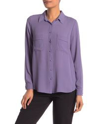 Pleione - Long Sleeve Utility Blouse - Lyst