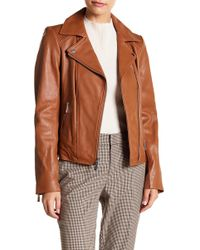 MICHAEL Michael Kors - Asymmetrical Leather Moto Jacket - Lyst