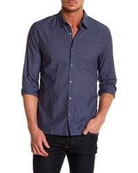 John Varvatos - Mayfield Long Sleeve Slim Fit Shirt - Lyst