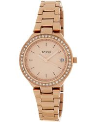 Fossil - Women's Blane Crystal Embellished Bracelet Watch & Bracelet Set, 31mm - Lyst