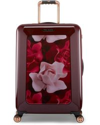 Ted Baker - Medium Porcelain Rose 27-inch Hard Shell Spinner Suitcase - Lyst