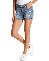 Vigoss - Marley Distressed Folded Hem Shorts - Lyst