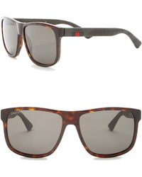 98f2804c0c Gucci - 58mm Square Sunglasses - Lyst