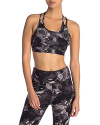 Donna Karan - Camo Printed Sports Bra - Lyst