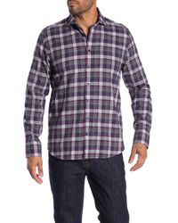 Tocco Toscano - Checkered Long Sleeve Regular Fit Shirt - Lyst