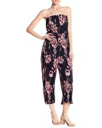 19 Cooper - Pleated Floral Jumpsuit - Lyst