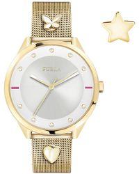 Furla - Women's Pin Analog Quartz Mesh Bracelet Watch, 38mm - Lyst