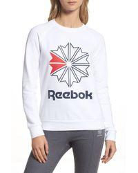 Reebok - Starcrest Crew Neck Sweater - Lyst
